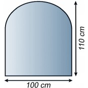 GLASBODENPLATTE 100 x 110 CM